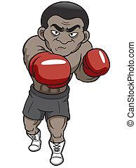Cartoon boxer - Vector illustration of Cartoon boxer