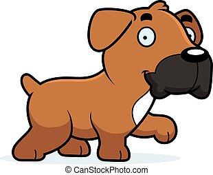 Cartoon Boxer Walking - A cartoon illustration of a Boxer...
