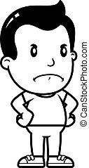 Cartoon Boy Angry
