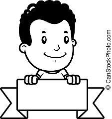 Cartoon Boy Banner