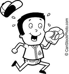 Cartoon Boy Baseball