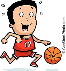 Cartoon Boy Basketball