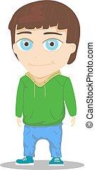 Cartoon Boy Character isolated on white background. Vector