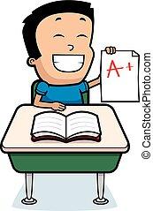 Cartoon Boy Grades