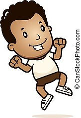 Cartoon Boy Jumping