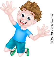 Cartoon Boy Jumping