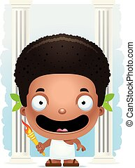 Cartoon Boy Olympian Smiling