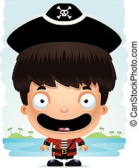 Cartoon Boy Pirate Smiling