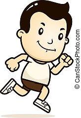 Cartoon Boy Running