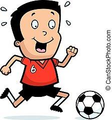 Cartoon Boy Soccer