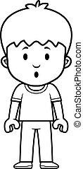 Cartoon Boy Surprised