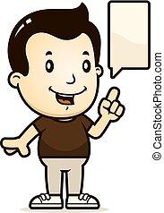 Cartoon Boy Talking