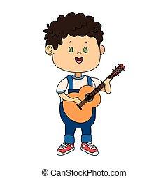 cartoon boy with a guitar