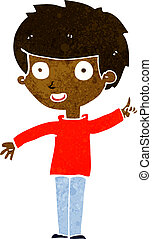 cartoon boy with idea