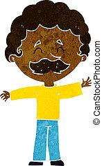cartoon boy with mustache