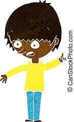 cartoon boy with question