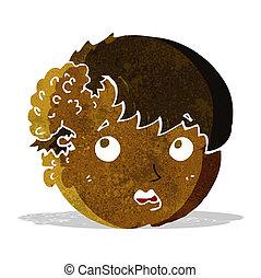 cartoon boy with ugly growth on head