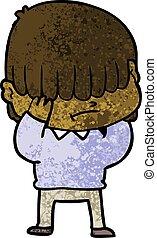 cartoon boy with untidy hair