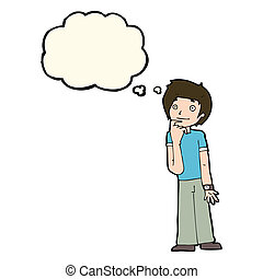 Question person thinking thought bubble wondering. The ...