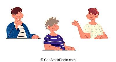 cartoon boys portrait