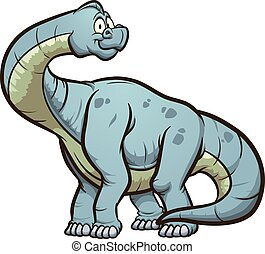 Cartoon brachiosaurus