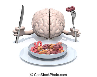 cartoon brain that eats numbers