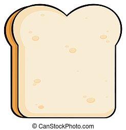 Cartoon Bread Slice. Illustration Isolated On White...