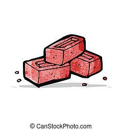 cartoon bricks