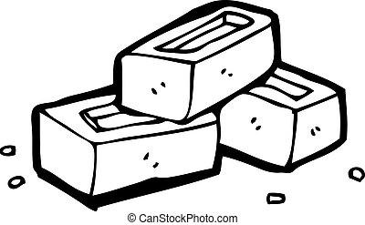 Cartoon Bricks Vector Illustration