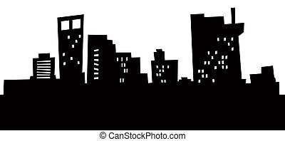 Cartoon Bridgeport Skyline.