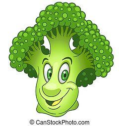 Cartoon Broccoli Vegetable