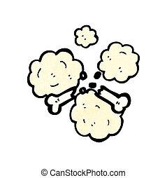cartoon broken bone symbol