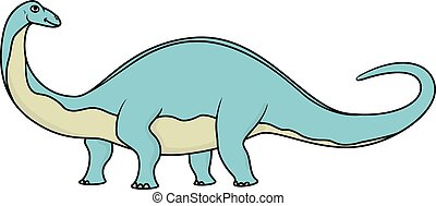 Cartoon brontosaurus isolated