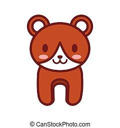 cartoon brown bear animal image