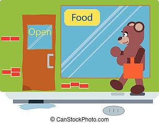 Cartoon brown bear