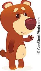 Cartoon brown bear.