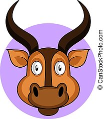 Cartoon brown deer vector illustration on white backround