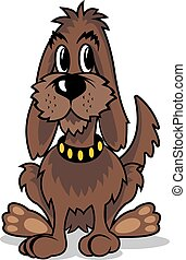 Cartoon brown dog