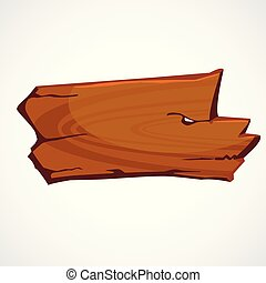 Cartoon brown wooden sign