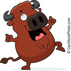 Cartoon Buffalo Dancing