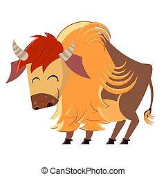 Cartoon buffalo vector illustration