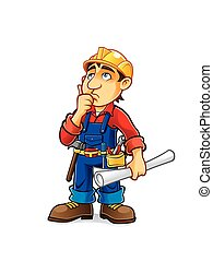 Cartoon Builder Thinking