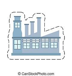 cartoon building factory structure