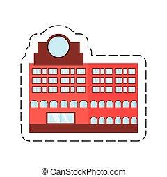 cartoon building marker window