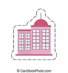 cartoon building modern urban