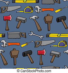 Cartoon Building Tools Seamless