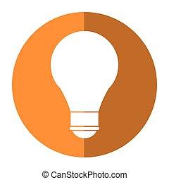 cartoon bulb creative idea school shadow
