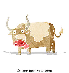 cartoon bull
