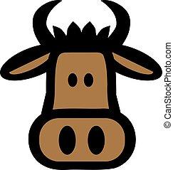 Cartoon bull head