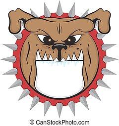 cartoon bulldog head vector animal icon illsutation